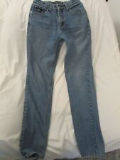 """Ladies """"Cowgirl Up"""" Size 7/8x36, Faded Blue, Straight Leg, Low Rise Jeans"""