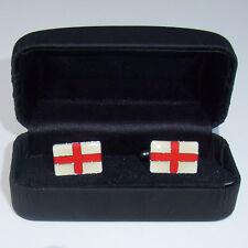 Angleterre boutons de manchette en boîte de présentation + pin badge st george drapeau bouclier cardées