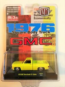 1976 GMC SIERRA GRANDE 15 SQUARE BODY PICKUP TRUCK YELLOW 1/64 BY M2 31500-MJS14