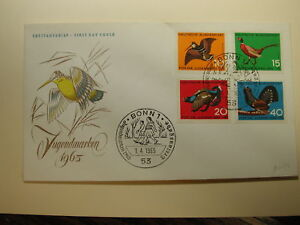 Germany 1965 F.D.C. CPL Birds Cover