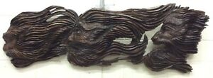 VINTAGE WOOD CARVING Old Man of the Sea 3 HEADS MASSIVE SCULPTURAL CARVING