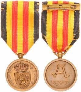 Bélgica 1911 Herinneringsmedaille 1870-1871 EBC