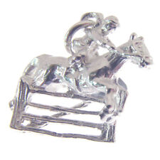 STERLING SILVER HORSE JUMPING CHARM.  925 SILVER HORSE JUMP CHARM or PENDANT