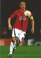 MAN UNITED* WES BROWN SIGNED 6x4 ACTION PHOTO+COA