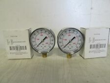"""GGS - 4FLW5"" LOT OF 2 COMMERCIAL HEAVY DUTY 600PSI PRESSURE GAUGES ¼NPT"