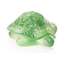 Lalique Sidonie Turtle Green Crystal Sculpture (1214500)