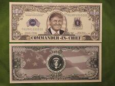President DONALD TRUMP: Commander In Chief <> $1,000,000 One Million Dollar Bill