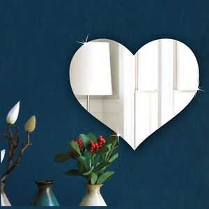 BEDROOM Mirror- LOVE HEART 20cm Acrylic Mirror Personalised GIFT PRESENT