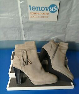 WBR55 Mint Velvet Taylor Taupe Tassel Ankle Boot Size UK 7 / EU 40