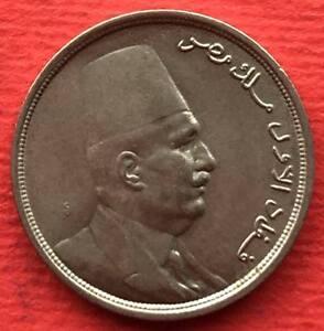 EGYPT , 5 MILLIEMES KING FUAD 1924 - UNC ( CZ.4 )  ,  RARE