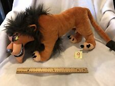"RARE 18"" Disney Scar Vinyl Face Plush Toy Doll The Lion King Applause 1990s"