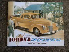 1940 FORD V8 UTE & PANEL VAN BROCHURE ''RHD AUSTRALIAN VERSION''  SUPER RARE!