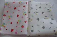 2 Stück Stoffreste Stoffpaket Patchworkstoffe Baumwolle Erdbeeren