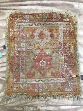 Vintage Oushak Rug Carpet Handmade Shabby chic taille: 65x55 cm