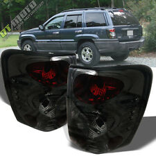 99-04 Jeep Grand Cherokee Euro Smoke Altezza Tail Lights Lamps Left+Right SMOKED