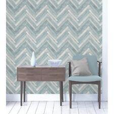 Unusual 3d Effect Parquet Wood Wallpaper Blue Grey Fine Decor FD40883