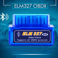 Mini Bluetooth ELM327 OBD2 Diagnostic Interface Scanner Tool Car Fault Detector