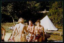 Pinup & male Nudist naturist woman European nude old 1970s Photo postcard a01