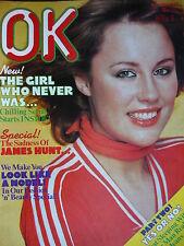 OK MAGAZINE 2ND APRIL 1977 - JAMES HUNT - ROBIN NEDWELL - DAVID ESSEX