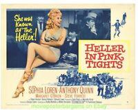 HELLER IN PINK TIGHTS MOVIE POSTER Rolled VF HALF SHEET Size 22x28 SOPHIA LOREN