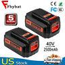 For Black&Decker 40V 2.5Ah MAX Li-Ion Battery LBX2040 LBXR36 LHT2436 2 Pack New