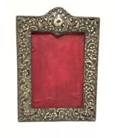 Antique Henry Charles Freeman Sterling Silver Repousse Picture Frame Victorian