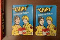1977 Donruss CHiPs TV Show-Eric Estrada (2) Wax Packs Bubble Gum Stickers Cards