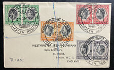 1937 Swakopmund South West Africa First Day cover FDC Coronation king George VI