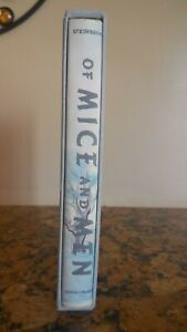 Of Mice and Men by John Steinbeck, 1st Ed Library Facsimile, 1965, DJ & Slipcase
