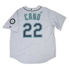 Robinson Cano Seattle Mariners Grey Road Cool Base Jersey w/ Patch Men's XL