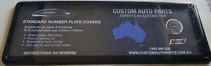Australian Standard Number Plate Covers - 134 mm x 372 mm