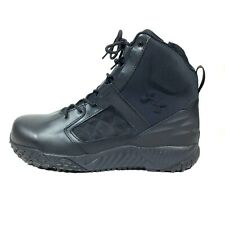 Under Armour Zip 2.0 Protect Tactical WP Black Leather Military Cops Boots Sz 10
