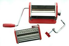 "Weston Mechanical Traditonal Style Homemade Pasta Machine 6"" Tuscan Red"