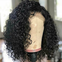 9A Peruvian Remy Hair Curly Bob Short Wigs 100% Real Human Hair Wig Lace Front s