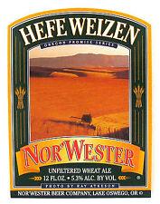 Nor'Wester Beer Co NOR'WESTER HEFE WEIZEN beer label Lake Oswego, OR 12oz
