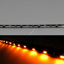 """Amber 12"""" 30cm 30SMD Thin Side Glow LED Car Decoration Neon Strip Flexible Light"""