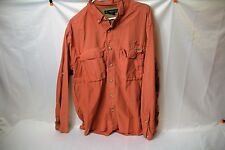 Exofficio Fly Fishing Outdoor Camping Hiking Shirt Long Sleeve SIZE XL Salmon