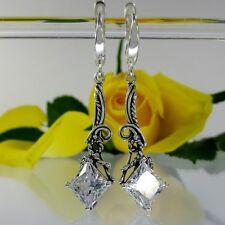 A224 Jugendstil neu prächtige Ohrringe 925 Silber Schmuck florale Verzierungen