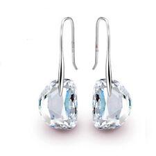 Mujer Largas Pendientes Aretes Diamante Cristal Gota Cuelga Gancho Earrings Stud