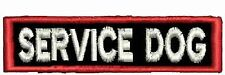 "Service Dog Patch Service Dog Patch Straight Dog Vest Patch Black 3"" x 1"""