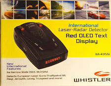 Whistler GT-435Xi Laser-Radar Detector international firmware 2013 update oled