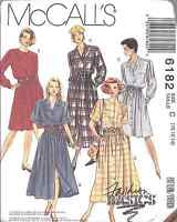 6182 UNCUT McCalls SEWING Pattern Misses Front Buttoned Dress Fashion Basics OOP