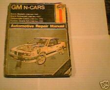 HAYNES GM N-CARS SERVICE MANUEL 85-90