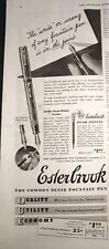 1939 ESTERBROOK Common Sense Fountain Pen Ad