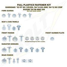 Bolt Full Plastics Fastener Kit Kawasaki KXF 450 KX450F 06 07 08 09 10 12 13 15