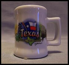 Shot Glass Texas Flag Ceramic Mini Mug Yellow Rose Armadillo State New 109