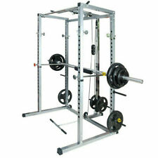 Power Rack Home Gyms Olympic Squat Cage With Lat Pull Attachment