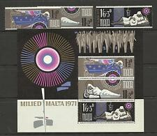 MALTA QE11 1971 XMAS SET MINT