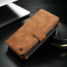 Luxury Genuine Real Leather Flip Case Wallet Cover for iPhone SE 5 7 8 6s 8 Plus Samsung S7 Red