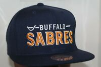 Buffalo Sabres Mitchell & Ness NHL Vintage Wool Solid 2 Snapback,Hat,Cap   NEW
